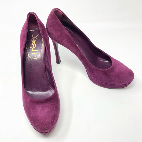 yves saint laurent shoes ysl suede tribute two pumps 40 poshmark rh poshmark com